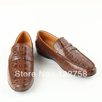 Wholesale British wind restoring ancient ways Brown shoe men s shoes casual shoes on the autumn Crocodile skin