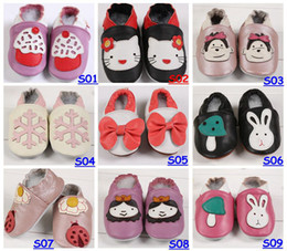 Wholesale Fedex EMS DHL Baby Infant Toddler Animal Soft Sole Leather Shoes Cow Leather Baby First Walker Shoes For T Choose Color amp Size Free
