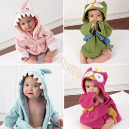 Wholesale New Hooded Animal modeling Baby Bathrobe Cartoon Baby Towel Character kids bath robe children s bathrobe colors