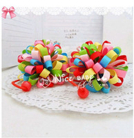 Wholesale Children s hair accessories Sphere hair rope Three color options TS001