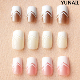 Wholesale Sell yuan V minimalist style false nails French manicure fake nails colors Japanese patch2014
