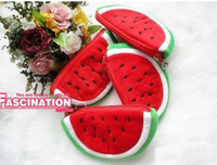 Purse Girl One-shoulder Hot Sale Watermelon Plush Mobile phone bags Portable Wallet Cosmetic Bag Coin Purse Pencil Case Fashion Gift