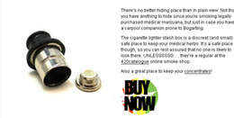 Wholesale pill Stash diversion Car Cigarette Lighter smoking metal pipe sneak a toke click n vape vapor stealth