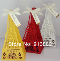 Cheap 30 pcs Creative Eiffel Tower Wedding Gown Favor Box, Birthday Favors bags Favor Boxes Party gift Boxes for candies