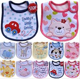 Wholesale Infant saliva towels layer Baby Waterproof bibs Baby wear accessories kids cotton apron handkerchief children animal bibs style
