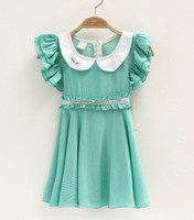 Wholesale Korean children s clothing trade little girls dress children dress princess dress children short sleeve rayon