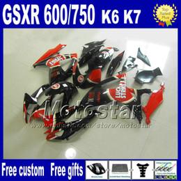 Injection molding fairing kit for SUZUKI fairings K6 GSXR 600 750 06 07 GSXR 600 GSXR 750 2006 2007 LUCKY STRIKE motobike parts