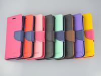 Mercure portefeuille de logements de carte flip housse en cuir peau de couverture coque pour iPhone 4 4G 4S 5 5S Samsung Galaxy S3 S4 S5 NOTE 3 2 Mercure porte-monnaie cas