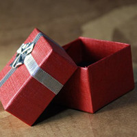 Wholesale cm cm cm Red Box Jewelry Gift Packaging Paper Box for Earrings Rings Pendants Bracelets