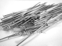 Pins & Needles lead free nickel free - Jewelry DIY findings mm Antique silver flat head head pin nickel and lead free