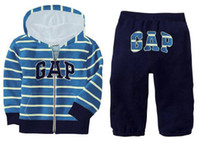 EMS Autumn 2014 Fashion Boys Clothing Sets Stripe Hooded + P...