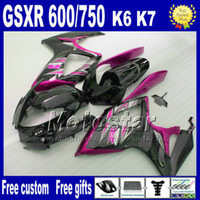Wholesale Injection molding Fairings body kit for SUZUKI GSX R600 fairing set K6 GSX R black purple plastic bodywork NT82