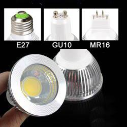 Wholesale AC V W COB LED Spotlight Bulbs Lamp E27 GU10 for Indoor Ceiling Spot Downlight Bulb H55mm WW CW CE ROSH Years Warranty
