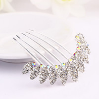Tiaras Silver Celtic 8X8.5cm Metal Alloy Silver Plated Crystal Rhinestone Hair Combs Bridal Wedding Hair Comb Pins Jewelry Accessories Hot Sale