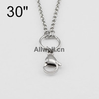Wholesale floating chains wire mm width for STAINLESS STEEL floating lockets SILVER CUSTOM ROLO CHAIN