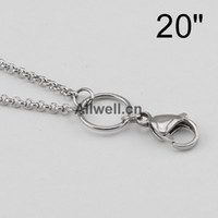 2.5mm chain - STAINLESS STEEL floating chains wire mm width for floating lockets mm SILVER CUSTOM BOX CHAINS