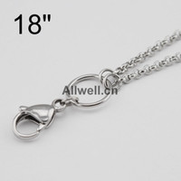 Pendant Necklaces 2.5mm chain - ALL STAINLESS STEEL floating chains wire mm width for dangle charm floating glass locket floating locket chains