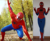 Wholesale zentai suit morph suit lycra spiderman costume latex spiderman catsuit costume