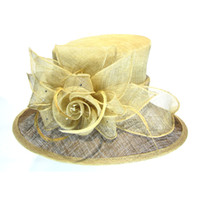 Wholesale 2014 fashion womens sinamay hat natural sinamay materials crazy hats church hats