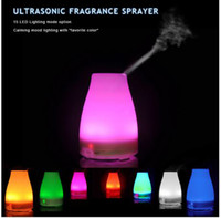Wholesale 120ML Ultrasonic Steam Diffuser with Color LED Night Light Mist Air Freshener Purifier Ionizer Aroma Diffuser ZA Home Office AAA Quality