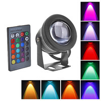 Wholesale 2PCS W LM V Waterproof IP68 Swimming Pool Fountain Piscina Pond RGB LED Underwater Lights Lamp