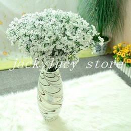(60 Pcs Lot) New Arrival Fabric Gypsophila Baby Breath Artificial Silk Flowers For Decor Wedding Decoration