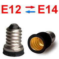 aluminum candle holders - E12 to E14 to E12 screw base holder socket converter adapter for candle lights lamp bulb