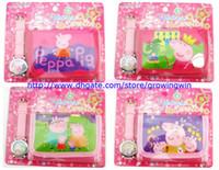 Wholesale New Kids boys girls children wallet and watch sets one direct frozen and peppa pig quartz cartoon fashion gift purse watches