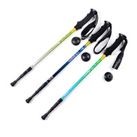 Wholesale Strengthening customized version straight grip EVA lightweight aluminum alloy foot outdoor trekking poles multicolor optional