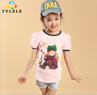 Girl china clothes - China Asia style children fashion clothes suit summer T shirt tees shorts set trend girls clothing kids casual outfit for age T