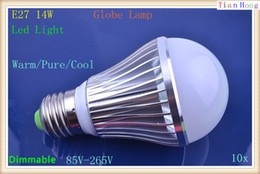 10pcs High Power E27 14W Globe Lamp Led Bubble Ball Bulb 85V-265V Bubble Ball Bulb Warm Pure Cool White