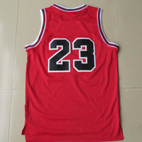 Wholesale Top Quality Swingman Men s Chicago Basketball Jerseys Michael Jordan Red Throwback Chicago in Front Embroidery Logo Mix Order