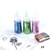 Wholesale Tattoo Designs Free Sleeve Tatoo Glitter Tattoo set Colors Arm Chest Tattoos Temporary Tattoos