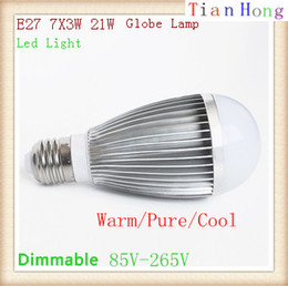 High Power E27 7X3W 21W Globe Lamp Led Bubble Ball Bulb 85V-265V Bubble Ball Bulb Warm Pure Cool White