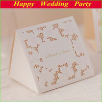 Wholesale Elegant Flower Embosses Wedding Gift Boxes New Lace Candy Boxes Wedding Favor Decoration