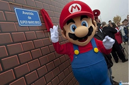 Wholesale Large luxury l super Mario bros mascot costume adult beautiful evening dress