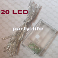 Battery Powered 20 LED Fairy String Lights 2M For Wedding Pa...