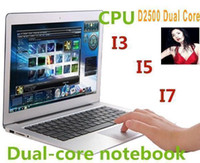 Cheap CHEAP HOT high quality 14 inch Laptops Notebook Intel Dual Core HDMI laptops D2500 Win Seven 2GB 4GB ram 160GB 320G 500GB Cheap Mini