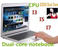 Cheap hot CHEAP NEW high quality 14 inch Laptops Notebook Intel Dual Core HDMI laptops D2500 Win Seven 2GB 4GB ram 160GB 320G 500GB Cheap Mini