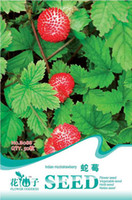Cheap 3 original packs total 150 pcs Indian Mock Strawberry Fruit Seeds balcony potted plants free shipping