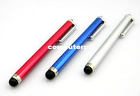 audio stylus - Highly Sensitive cylindrical Touch Screen Handwriting Stylus Pen with Audio Jack Stopper for iPhone iPad iTouch mix color