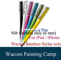 bamboo stylus solo - Wacom Bamboo Tablet Stylus Solo Sylus For iPad iPhone s Capacitive Touch Pen Special Offer Nib Fineness Only mm Black Purple