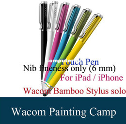 Wholesale Wacom Bamboo Tablet Stylus Solo Sylus For iPad iPhone s Capacitive Touch Pen Special Offer Nib Fineness Only mm Black Purple