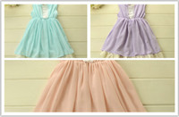 TuTu Summer A-Line Hot Sell Korean Summer Sundress Children Clothes Cute Girls Lace Princess Dress Children Fashion Bow Lace Party Dresses Kids A001
