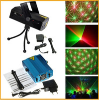 Wholesale Holiday Sale Blue Mini Laser Stage Lighting mW Mini Green amp Red Laser DJ Party Stage Light Black Disco Dance Floor Lights