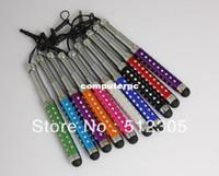 Wholesale 100pcs capacitive retractable stylus pen for Tablet PC Mobile phone Dust cap