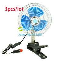 Wholesale 3pcs Car Charger V Powered Car Truck Vehicle Oscillating Fan Cab Fan Equipment