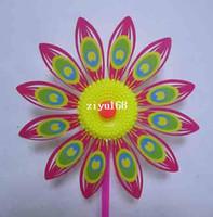 plastic windmill toy - Children plastic sunflower windmill cm length cm diameter windmill toy several colors