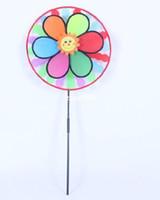 Wholesale Children Big plastic colorful rainbow windmill cm length cm diameter windmill toy