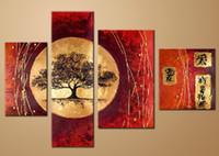 живопись маслом холст пейзаж Японское искусство украшения высокого качества ручной росписью стены гостиницы домашнего офиса искусство декора свободная перевозка груза, FZ058